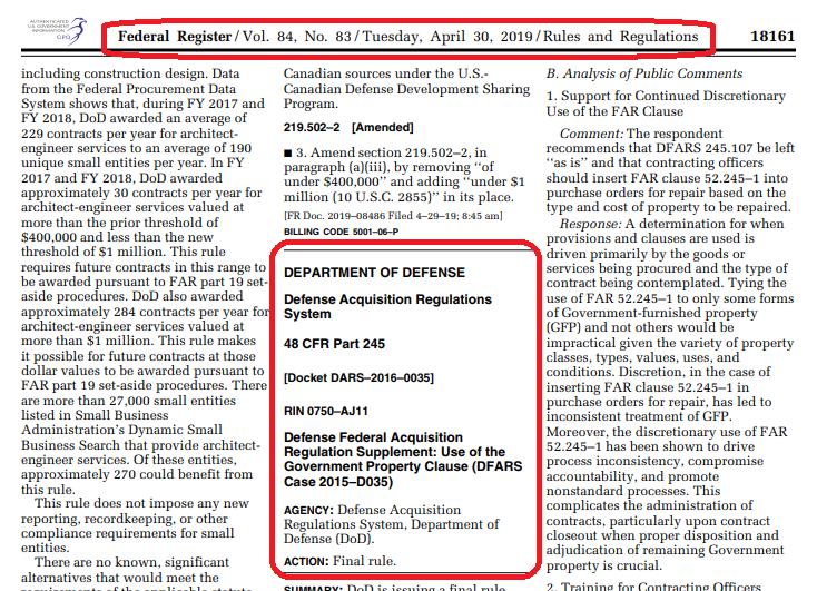 DFARS Case 2015-D035