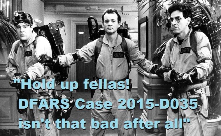 Anatomy of a Decision: DFARS Case 2015-D035