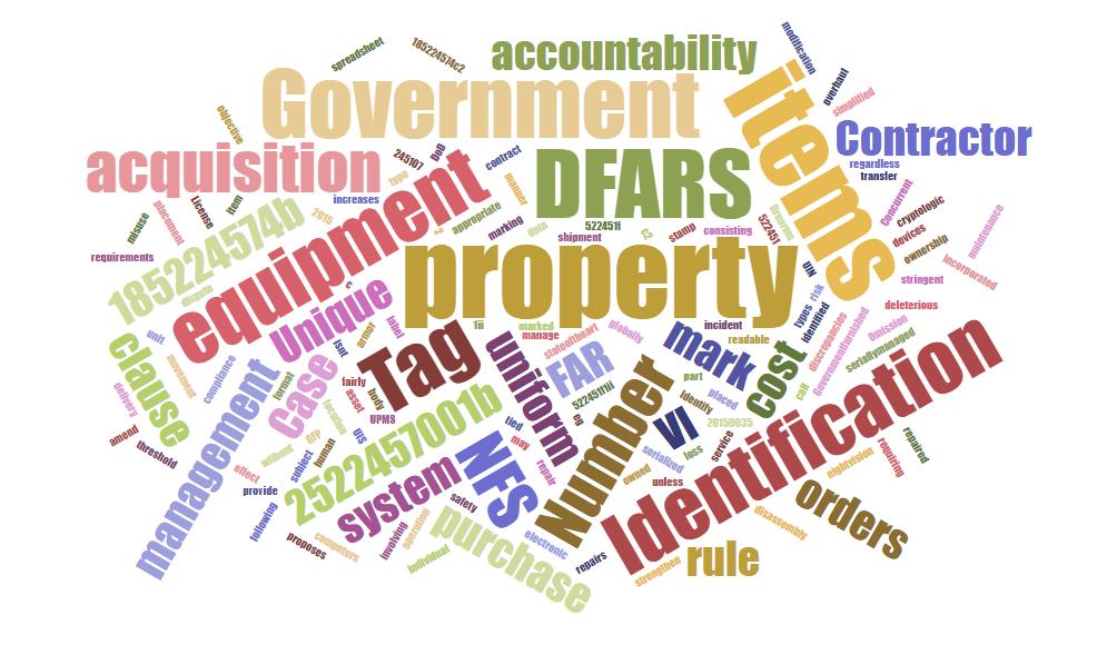 Federal Asset Tagging Regulations